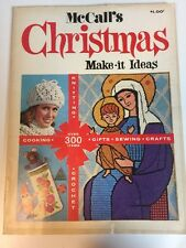 1971 McCall's CHRISTMAS MAKE-IT IDEAS Sewing COOKING Gifts & CROCHET