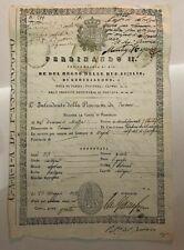 PASSAPORTO REGNO DUE SICILIE 1842 FERDINANDO II TERAMO X NAPOLI