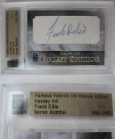 2010 Famous Fabrics Frank Dilio 1/1 auto 1 of 1 autograph RIP quebec hockey