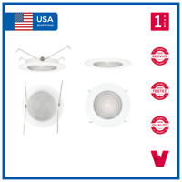 """5"""" 5 INCH Recessed Can Fresnel Clear Lens Bathroom Shower Trim Downlights"""