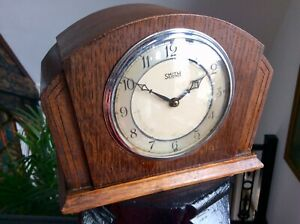Antique Old ART DECO Mantel Clock,SMITHS ELECTRIC Brass Mechanism,Chiming,Rare