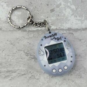 Tamagotchi Angel 1997 Bandai Electronic Keychain Pearl White Wings Tested