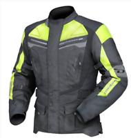 DRIRIDER APEX 4 motorcycle jacket NEW Hi Vis Yellow Motorbike Road Dry Rider Men