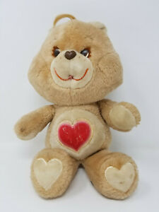 "Vintage Care Bears Tenderheart Teddy 13"" Plush Kenner 1983 Stuffed Animal Heart"