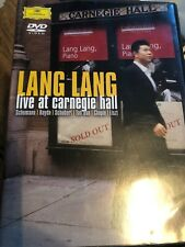 Lang Lang Live At Carnegie Hall Concert Dvd Pianist Piano Signed ticket stub