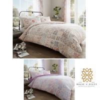 Amira Patchwork Moroccon Duvet Cover Pillowcase Quilt Bedding Set Double King