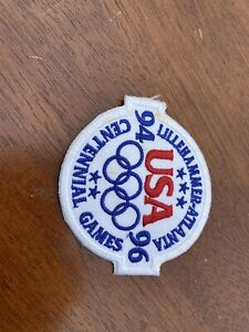 1994-96 NOS Embroidered Patch USA Lillehammer-Atlanta OLYMPIC Centennial Games