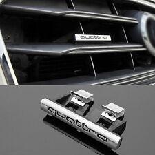 AUDI Quattro GRILL EMBLEMA ADESIVO LOGO S Q a 1 3 4 5 6 7 8 SLINE S LINE RADIATORE