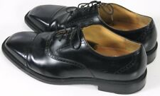Rockport Mens $110 Cap Toe Brogue Dress Shoes Kinetic Air Size 9.5 Leather Black