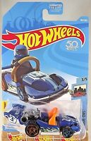 2018 Hot Wheels #183 HW Ride-Ons 3/5 LET'S GO Blue w/Rear Copper/Front Blue Pr5s