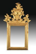 Ornamental mirror frame. Gilt wood. 18th century.