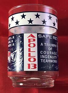 (1) Vintage Apollo 13 Space NASA Moon Astronaut Glasses Tumblers Collectible