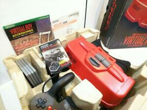 Nintendo Virtual Boy VUE Console Pad,stand,Adapter pack Boxed