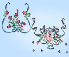 1950s Vtg Vogart Embroidery Transfer 632 Uncut Cross Stitch Floral Vanity Scarf