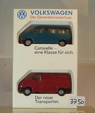 Wiking 1/87 Set VW Caravelle & der neue Transporter in Werbebox #3750