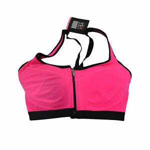 Victoria's Secret Vsx Sports Bra Knockout Front Close Pink 32Dd Damaged Nwt New