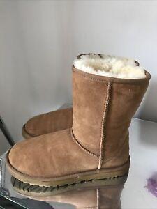 Ugg Australia Boots Size 5.5 Uk Chestnut Short Good Condition