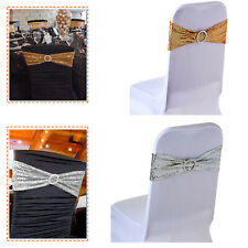 Elasticity Stretch Chair cover Ribbon with Round Buckle Slider Party Decoration