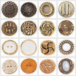 Antiguo Botones de Diseño Plástico Tallo Costura Ropa Adornos Manualidades