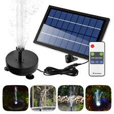 8W Solaire Fontaine Pompe de Bassin avec Batterie Éclairage LED