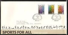 Singapore 1981 Sport for All Set Postally Used FDC adressed to Australia