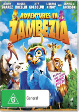 ADVENTURES IN ZAMBEZIA - BRAND NEW & SEALED KIDS DVD (REGION 4) + UV COPY