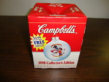 1998 Campbell Soup Holiday Ornament---Good for the body good for the soul