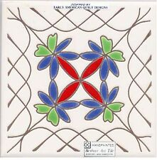 LACEY BORDER QUILT WALL PLAQUE, TRIVET, TILE ~ DIRECTLY FROM BESHEER ART TILE