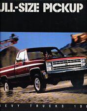 1987 Chevrolet Truck Silverado C/K Original Sales Brochure -  Pickup