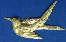 6pc Raw Brass Fancy Ornate Wild Bird Finding 6319