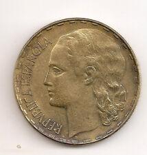 Spain 1 PESETA REPUBLICA 1937 KM 755. 4RW 12ABRIL