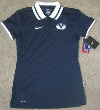 Nike WOMENS BYU COUGARS Hot Route Performance Polo SHIRT TOP XS DRY FIT DRI NWT