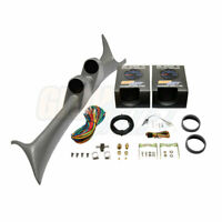 GlowShift Gray Dual Pod w Boost & Trans Temp Gauges for 99-07 Ford Super Duty