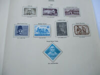 India stamps. 7 stamps, mint and mounted on one page.