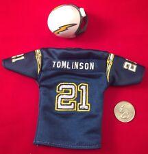 2005 Upper Deck Mini Jersey Blue LaDainian Tomlinson With  Riddell Helmet