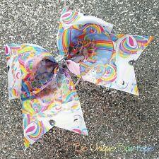 Love Unicorn Cheer Bow Cheerleading Dance Hair Bow