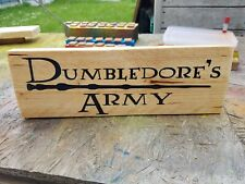 free standing harrypotter Dumbledore's army reclaimed wooden sign