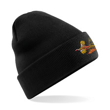 More details for unisex warm beanie hat with pheasant embroidered logo. available in 4 colours