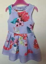 Ted Baker Lilac Floral Girls Dress Age 2-3years