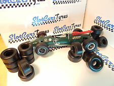 8 front and 8 rear urethane tires Lotus 38 or Ferrari 158 1/24 SCALEXTRIC-  IRL