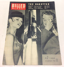 BRIGITTE BARDOT LUNIK ROCKET Danish Vintage Magazine Billed-Bladet 1959 9th Jan.