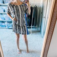 Diane Von Furstenberg Women's Sz 6 Giselle Printed Shift Short Sleeve Silk Dress