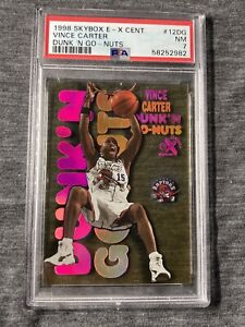 Vince Carter Dunk'n Go-Nuts Rookie 1998 Skybox E-X Century RC # 12 PSA 7