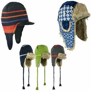 Result Unisex Sherpa Hat Winter Faux Fur Fleece Russian Trapper Ear Cover Caps