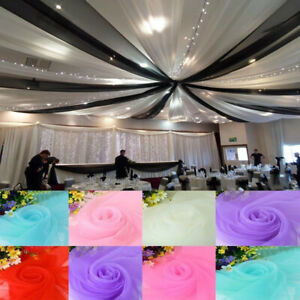 Party Wedding Veil Organza Swags Venue Stage Window Ceiling Decorative Drapes