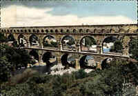 Brücken Motiv-AK Bridge Brücke Pont du Gard in Frankreich Carte Postale ~1960