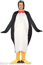 Negro De Hombre Blanco Pingüino Navidad Animal Disfraz Talla L