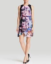 $226 NWT AMANDA UPRICHARD S Bloomingdales Exclusive Wave Flower Silk Flare Dress