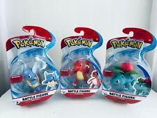 Wicked Cool Toys Pokemon Battle Figure 3pk Ivysaur Charmeleon Wartortle New !