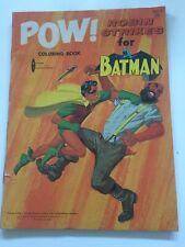 POW!, ROBIN STRIKES FOR BATMAN, COLORING BOOK, WATKINS-STRATHMORE, 1966